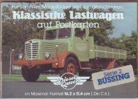 Klassische Lastwagen - Büssing - Postkarten