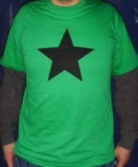 schwarzer Stern - T-Shirt